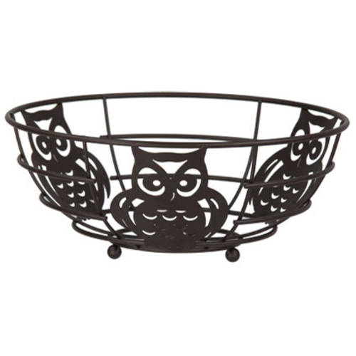 Home Basics Bronze Owl Fruit Bowl