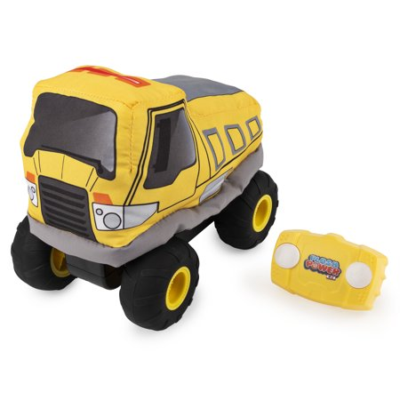 Plush Power RC, Remote Control Dump Truck with Soft Body and 2-Way Steering, for Kids Aged 3 and Up