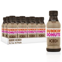 Dunkin' Donuts Iced Coffee, Espresso, 13.7 Fl Oz, 12 Count