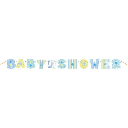 Blue Stitching Baby Shower Jointed Banner