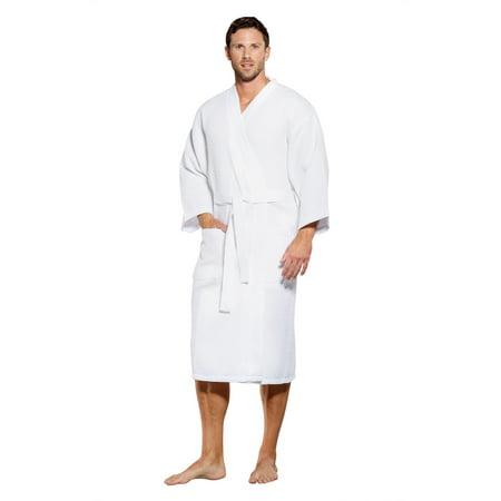 Turquaz Linen - Turquaz Linen Lightweight Long Waffle Kimono Spa Robe for  Men (XX-Large f89fc8533