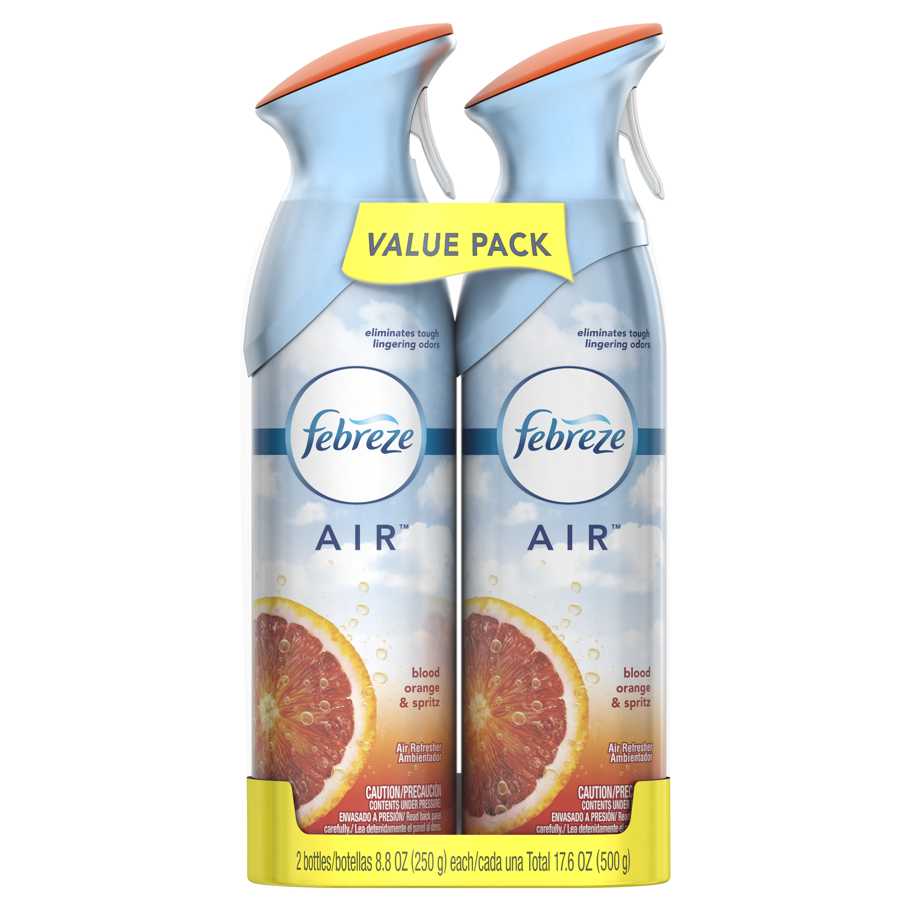Febreze Air Freshener Value Pack, Blood Orange & Spritz, 2 count, 8.8 oz each