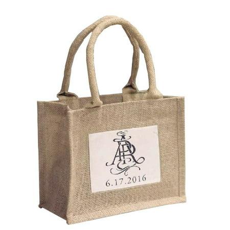 Burlap Wedding Favors (Rustic Wedding Favor Burlap Bags Promotional Jute Totes (Pack of)