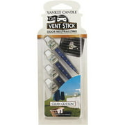 Yankee Candle Car Vent Air Freshener Stick - Clean Cotton Scent 1194395