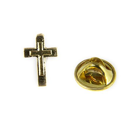 Christian Cross Lapel Pin Brooch Tie Tack Made in USA (Christian Lapel Pins)