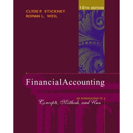 Financial Accounting An Introduction To Concepts Methods And Uses By Clyde P Stickney