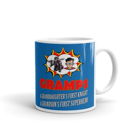 Unique Superhero Gifts (Gramps A GrandDaughter's First Knight A GrandSon's First SuperHero Grandpa Gifts Coffee Tea Ceramic Mug Office Work Cup Gift 11)