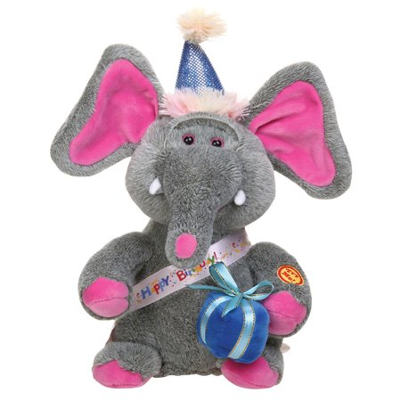 Singing Elephant - Happy Birthday Song Plush Stuffed Animal (Happy Halloween Stuff)
