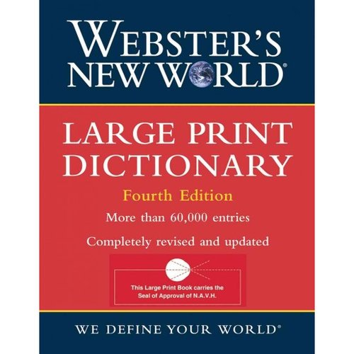 Large Print Dictionary