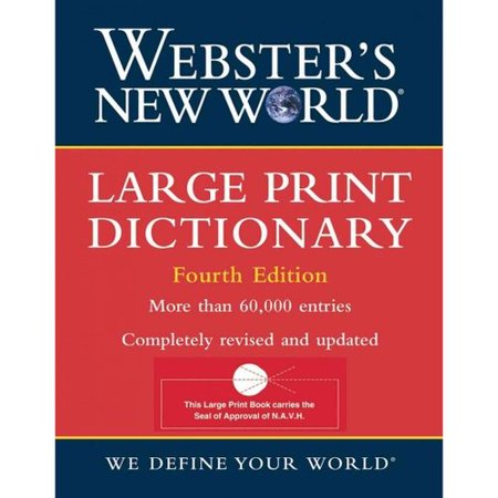 Websters New World Large Print Dictionary