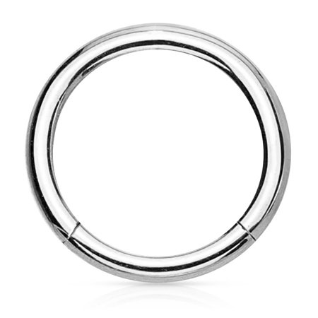 14G-16G Surgical Steel Hinged Easy Use Hassle Free Segment Hoop Body Piercing Ring (Sold - 1/2 Segment Ring