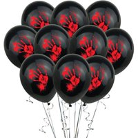"Fancyleo 10PC Halloween Latex Balloons 12 ""Pumpkin Skull Bloody Balloons Party Decoration"