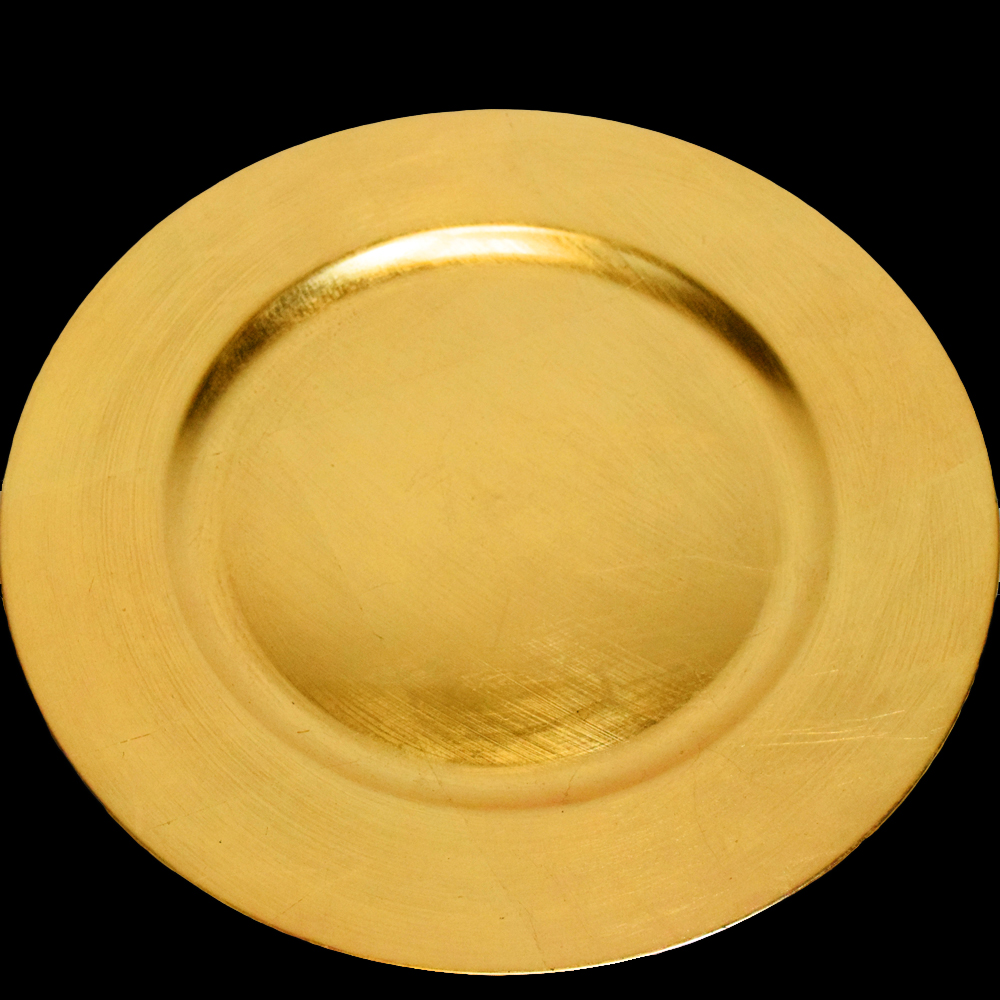 Quasimoon Gold Heavy Duty Charger Plate (13 Inch) by PaperLanternStore
