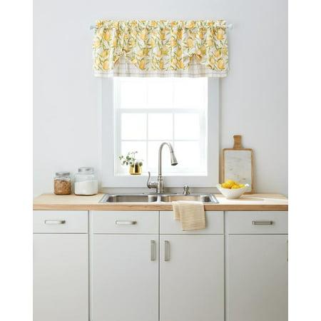 Better Homes & Gardens Lemon Window Valance