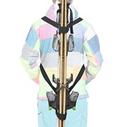 YYST Ski Tote   Skis and Poles Backpack Carrier   Ski and Pole Carry Sling Strap  ski Shoulder Strap -Hold Your Poles Together -Free Your Hand! Stronger Than One Single Sling.