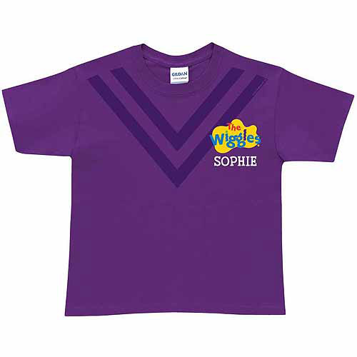 Personalized The Wiggles Uniform Toddler T-Shirt, Purple