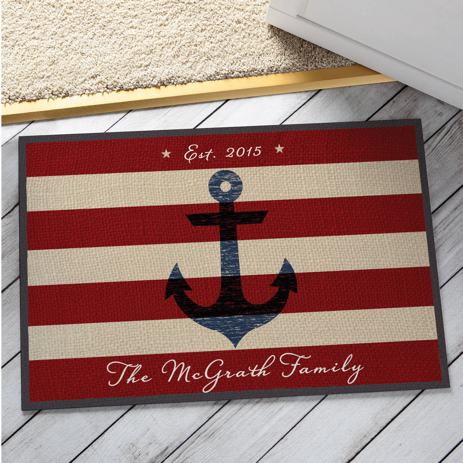 Personalized Summer Anchor Doormat