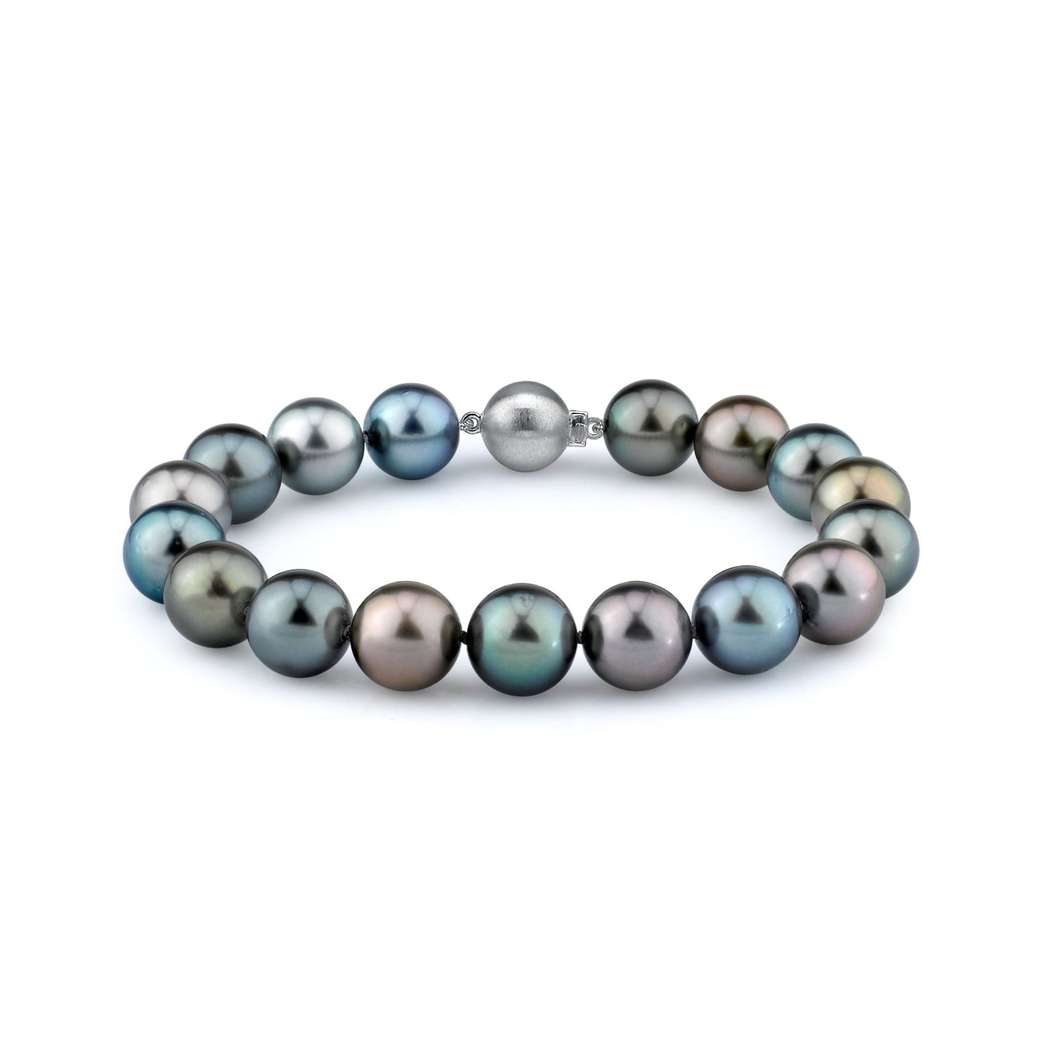 """Radiance Pearl 14k Gold AAA-quality Multicolor Tahitian South Sea Pearl Bracelet (9-10mm) Yellow Gold 8"""" Length by Overstock"""