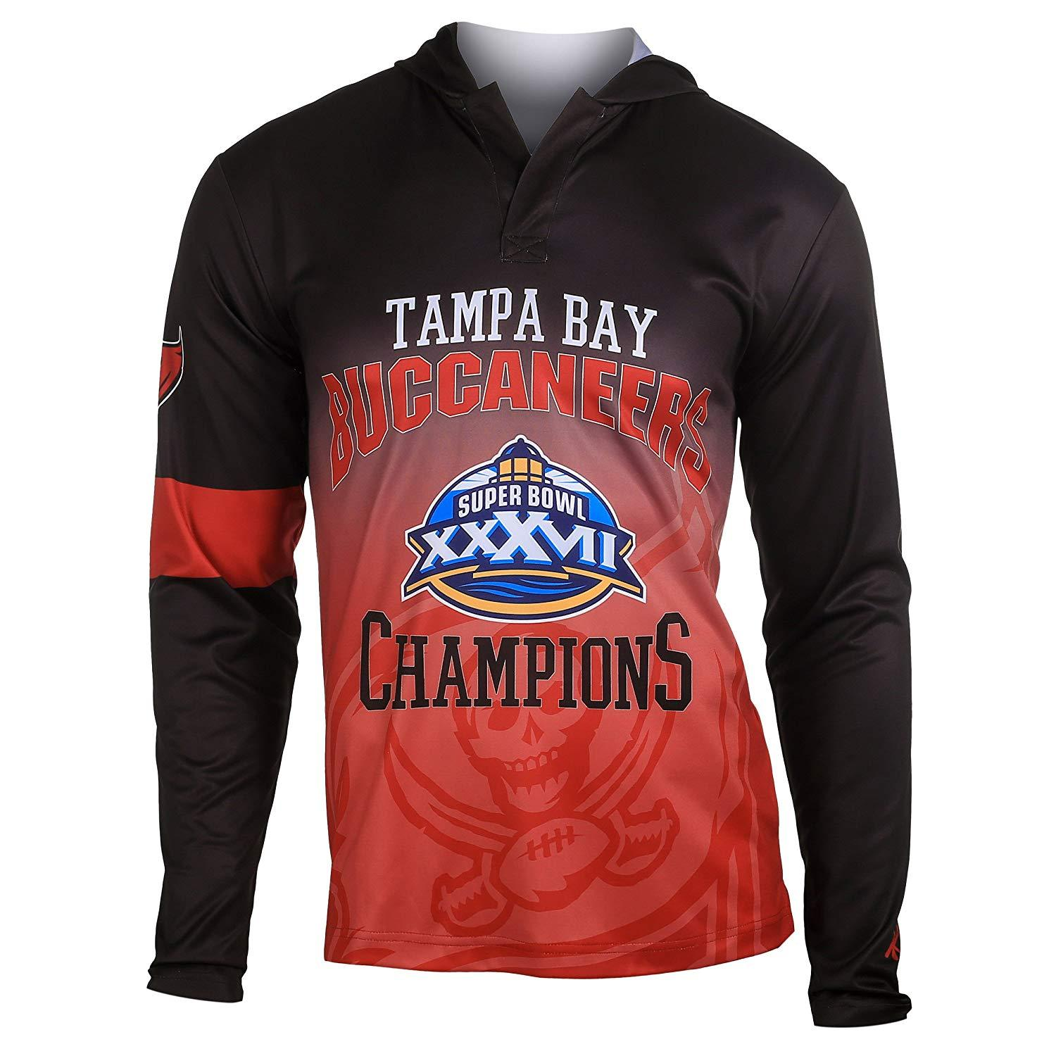 Forever Collectibles NFL Men Tampa Bay Buccaneers Super Bowl Champions Hooded Tee