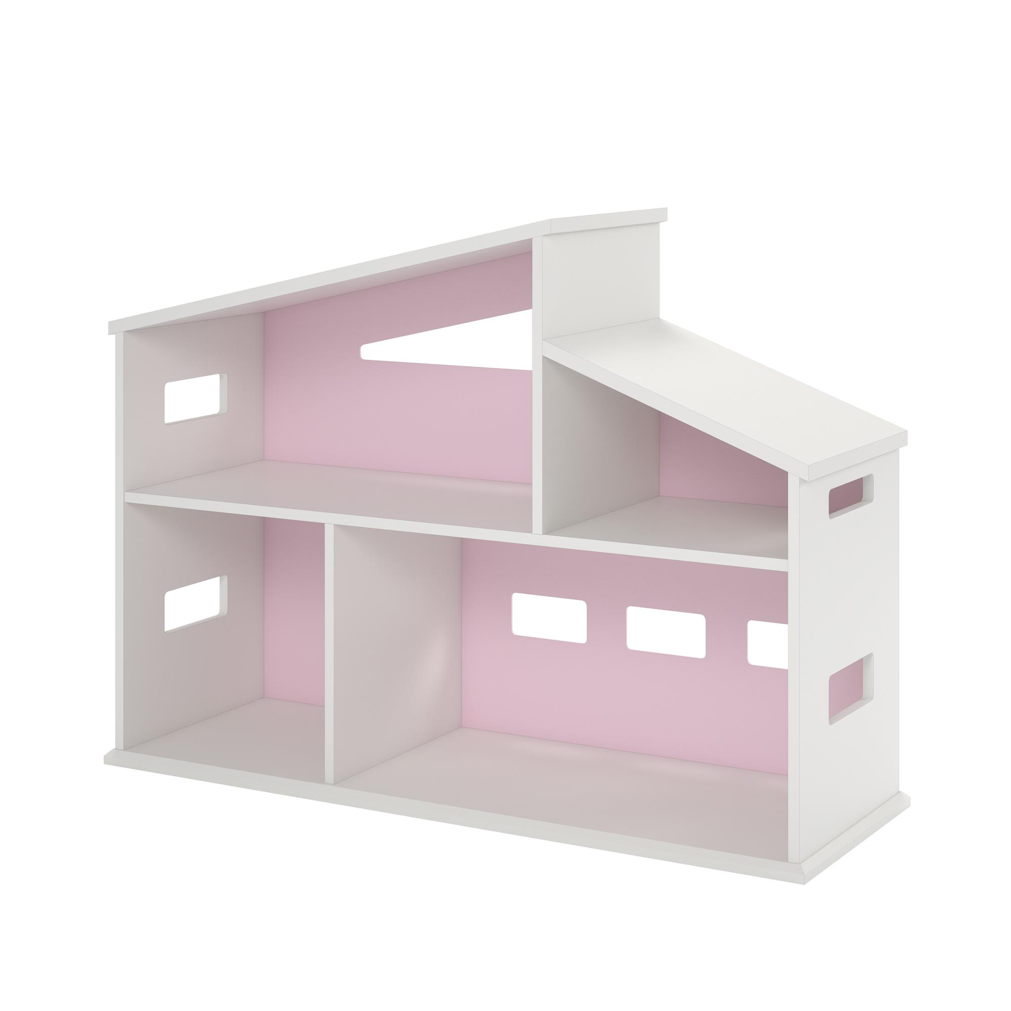 Kids Book Shelf Dollhouse Bookcase With Shelves, White Childrens Book  Storage