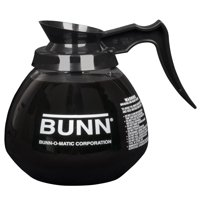 BUNN 12 Cup Commercial Glass Decanter with Black Handle (3 pack)