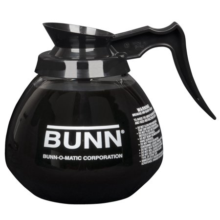 BUNN 12 Cup Commercial Glass Decanter with Black Handle (3 (12 Cup Replacement Decanter)