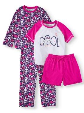 Chili peppers mix n match pajamas, 4-piece pajama sleep set (Little Girls & Big Girls)