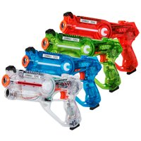 Costway Set of 4 Infrared Laser Tag Guns 4 Players Game Set Battle Blasters Mega Pack