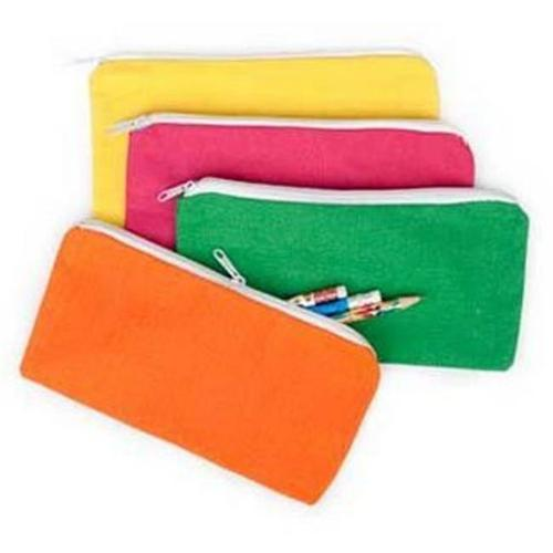 Fun Express BB019380 Bright Canvas Pencil Case -12 Pack