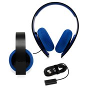 Sony Playstation Silver Wired Stereo Headset PS4 PS3 PC PS Vita Surround Sound - Refurbished