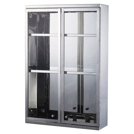 Beautiful Display Cabinet (HomCom Stainless Steel Double Door Display Wall Cabinet )