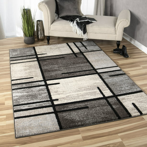Better Homes And Gardens Spice Grid Indoor Area Rug Charcoal 63 X 90 Walmart Com Walmart Com