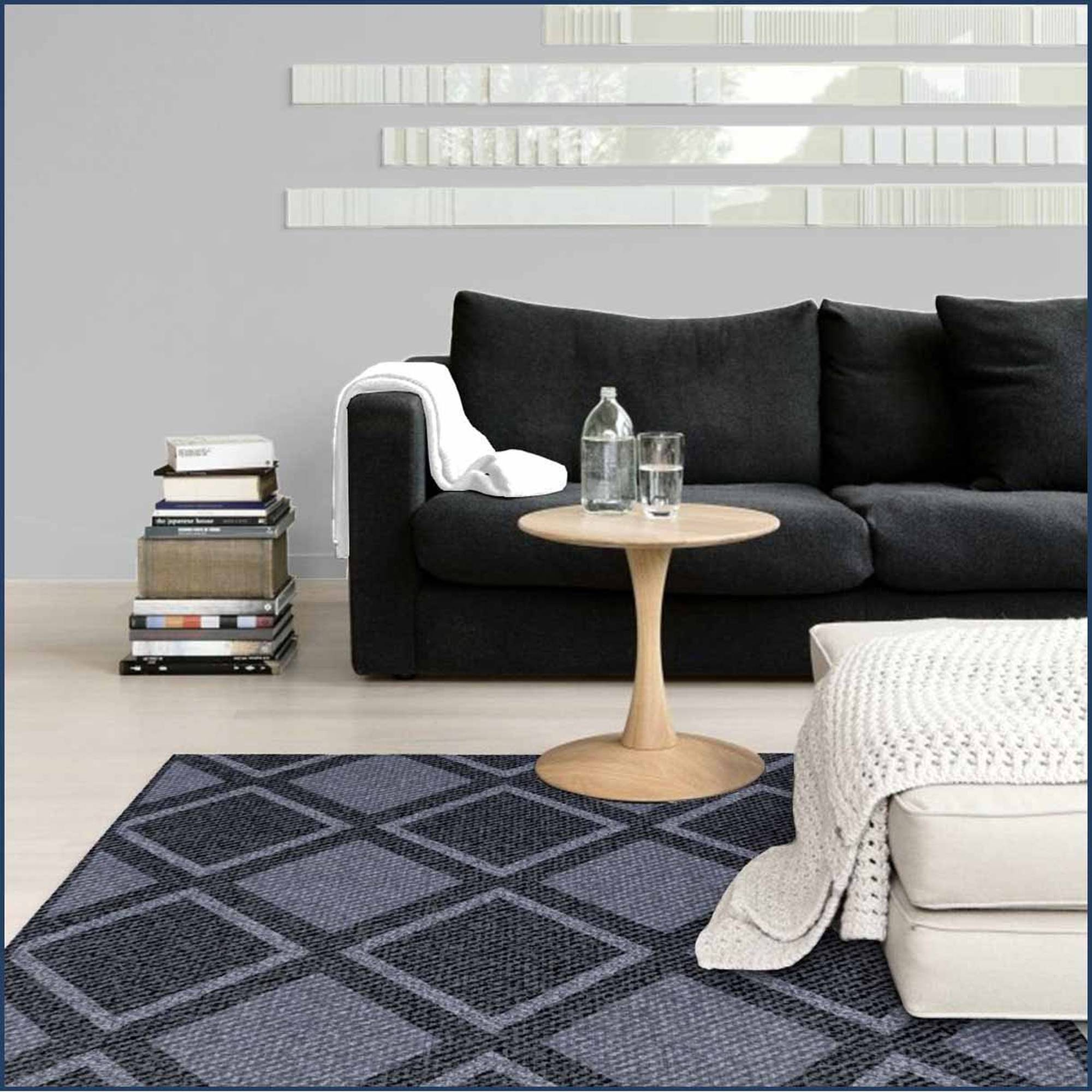 Spaces Home and Beyond Twill Diamon Accent Rug