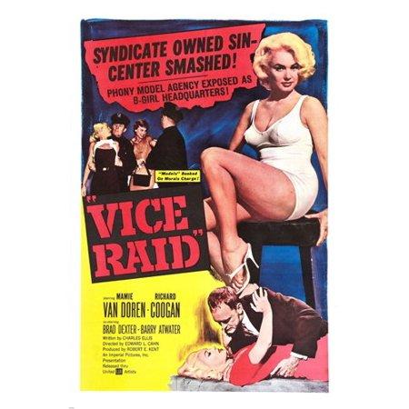 Vice Raid Movie Poster Mamie Van Doren Richard Coogan Sexy Expose