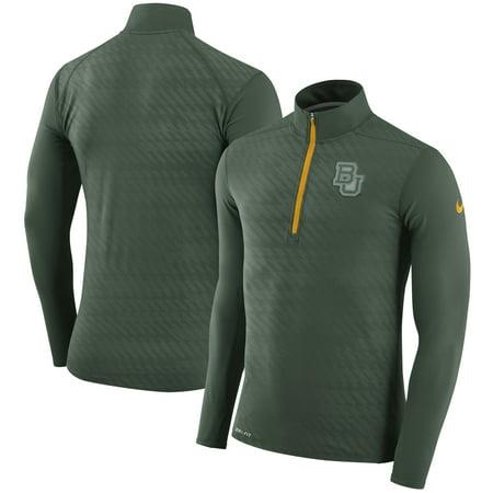 Baylor Bears Nike Dry Element Quarter-Zip Performance Jacket - Green (Nike Knit Jacket)