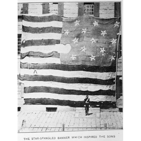 Fort Mchenry Battle Flag at Boston Navy Yard Print Wall - Party City Mchenry