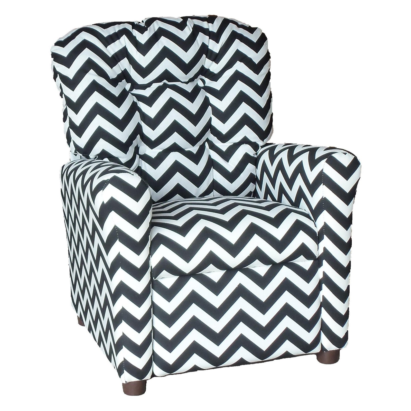 Brazil Furniture 4-Button Back Childrens Recliner - Zig Zag Pattern