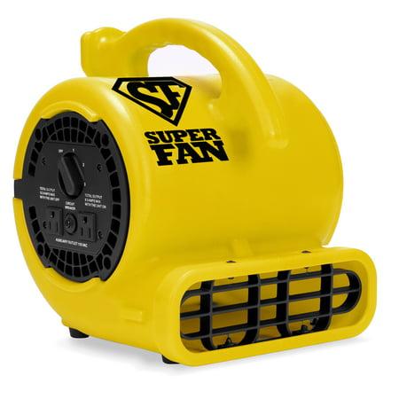 Soleaire Super Fan Home Personal Portable High Velocity Floor Fan,