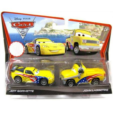 Disney Cars 2-Packs Jeff Gorvette & John Lassetire Diecast Car 2-Pack