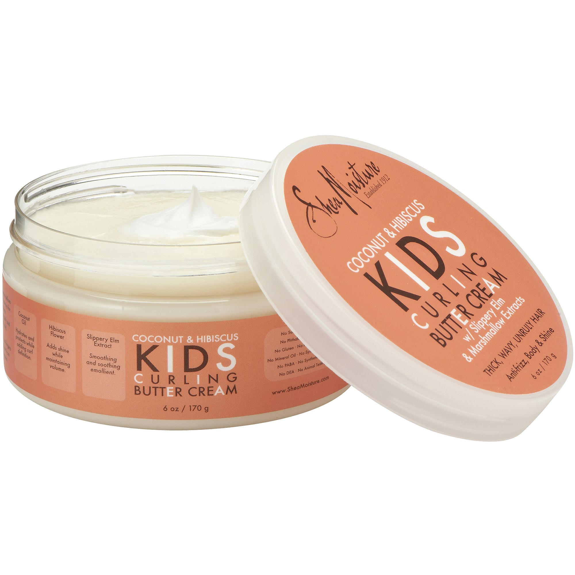 Shea Moisture Kid's Curl Hair Cream, Coconut & Hibiscus, 6 Oz