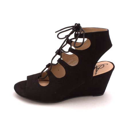 - Suriya Lace-Up Demi Wedge Sandals