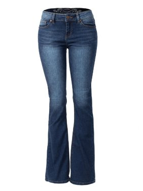 226eb58c2b127 Product Image Made by Olivia Women s Sexy Stylish Flare Bell Bottom Slim  Bootcut Jean Dark Denim 3
