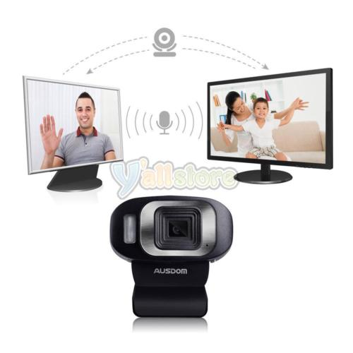 New AUSDOM HD 1080P USB 3.0 Webcam Web Camera with microphone for PC Laptop US by AUSDOM