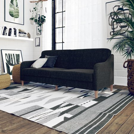 Stupendous Dhp Jasper Coil Sofa Bed Gray Andrewgaddart Wooden Chair Designs For Living Room Andrewgaddartcom
