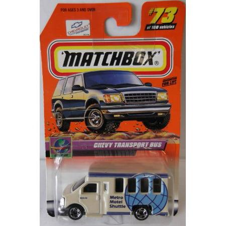 CHEVY TRANSPORT BUS Matchbox 1998 Series 15 On Tour Chevy Transport Bus Collector 1:64 Scale Collectible Die Cast Car Model (Matchbox Series No 74 Daimler Bus By Lesney)