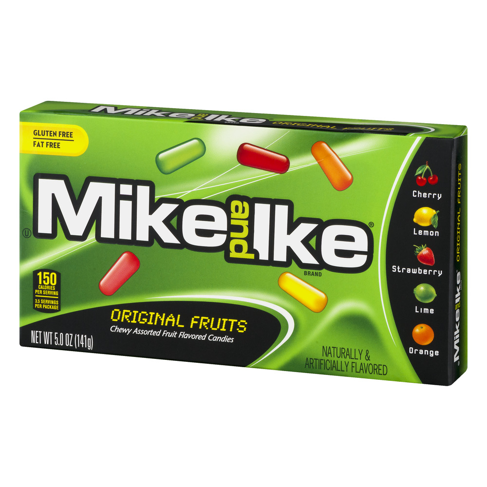 Mike And Ike Fat Free Original Fruits Chewy Fruit Flavored Candies