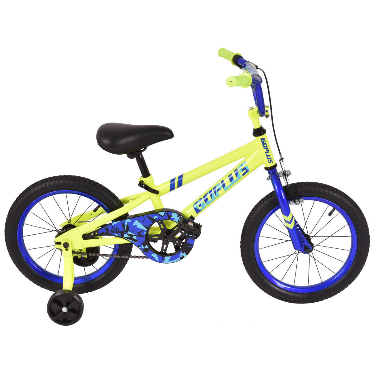 Costway 16'' Children Kids Bike Boy Girl Bicycle Training Wheels Toddler Ride Yellow by Costway