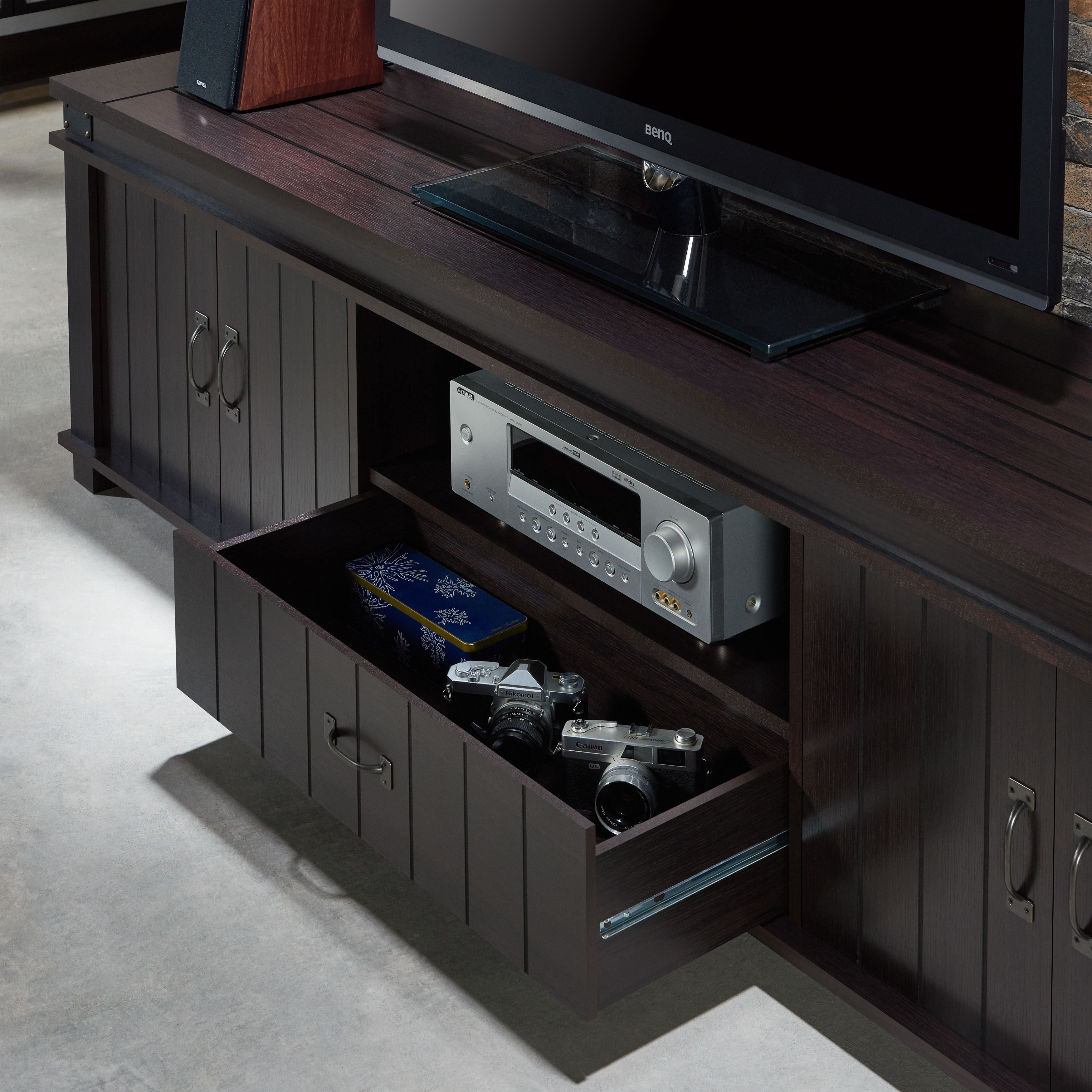 sports shoes 43812 a92dd Furniture of America Teglar Espresso Finish Wood 82-inch TV ...