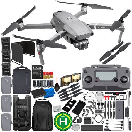 "DJI Mavic 2 Pro Drone Quadcopter with Hasselblad Camera 1"" CMOS Sensor with FLY MORE KIT 64GB Ultimate Everything You Need Bundle"