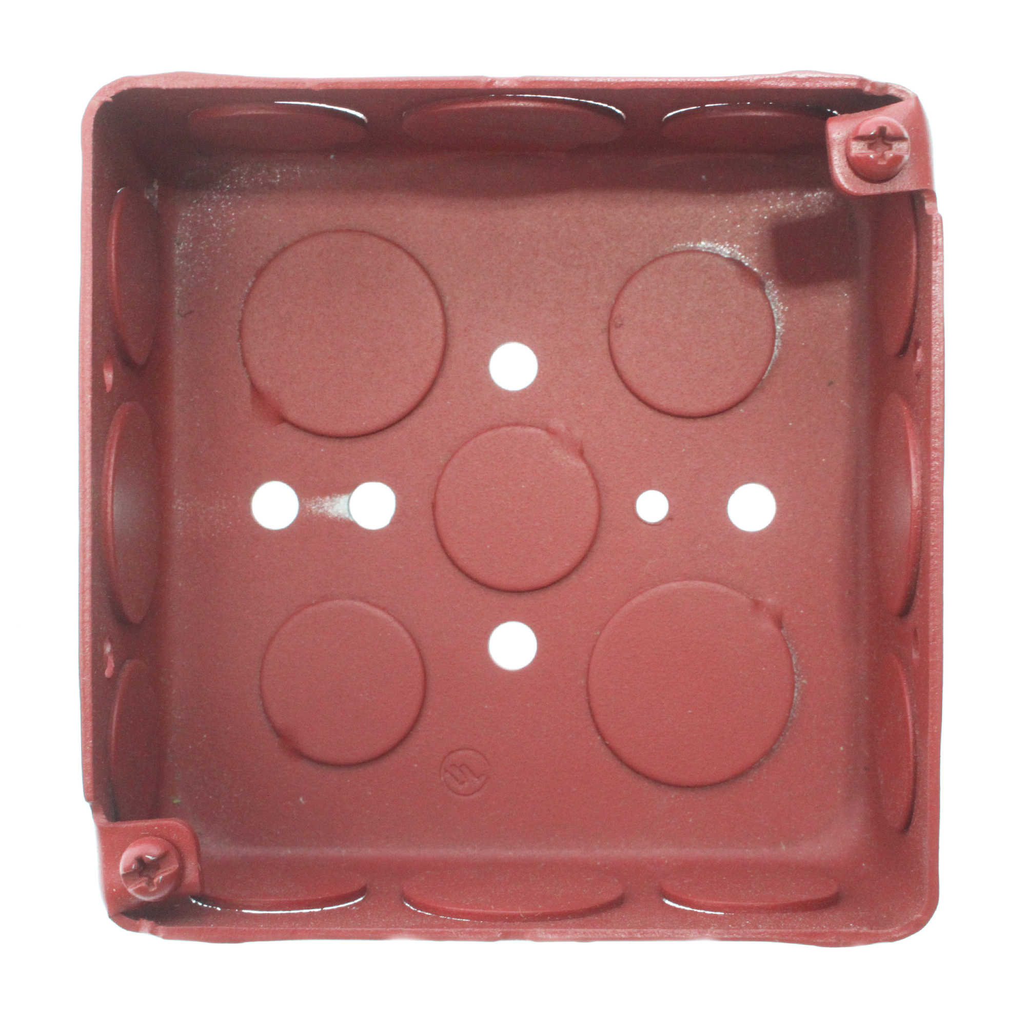 FCI Gamewell BBR 139-3101F Fire Alarm Surface Mount Device Back-Box, Steel, Red